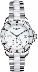 Certina DS First Lady Ceramic White Bracelet