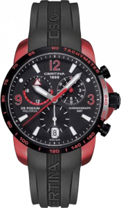 Certina DS Podium Big Size Chrono GMT Aluminium Red