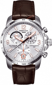 Certina DS Podium Big Size Chrono GMT Silver