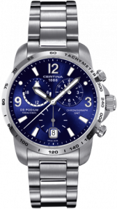 Certina DS Podium Big Size Chrono GMT Blue